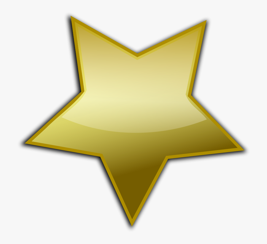 Free Gold Button - Gold Star Free Vector, Transparent Clipart