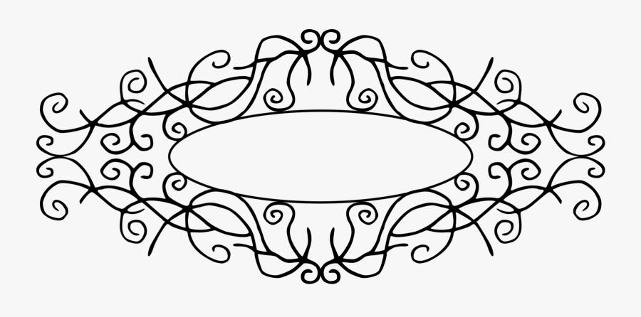 Line Art,plant,flower - Transparent Frame For Title, Transparent Clipart
