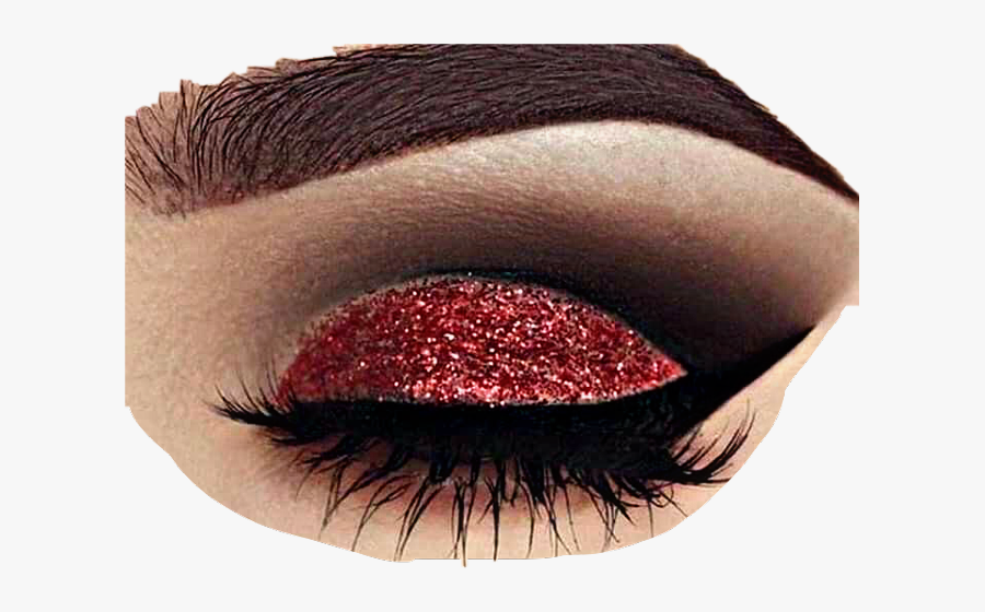 Eye Closed Red Eyeshadow Makeup - Closed Eye Red Eyeshadow, Transparent Clipart