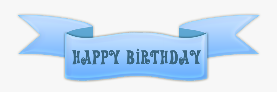 Happy Birthday Banner Png Picture - Happy Birthday Ribbon Banner, Transparent Clipart