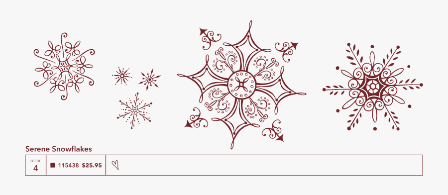 Christmas Cards So Creative - Small Snowflakes, Transparent Clipart