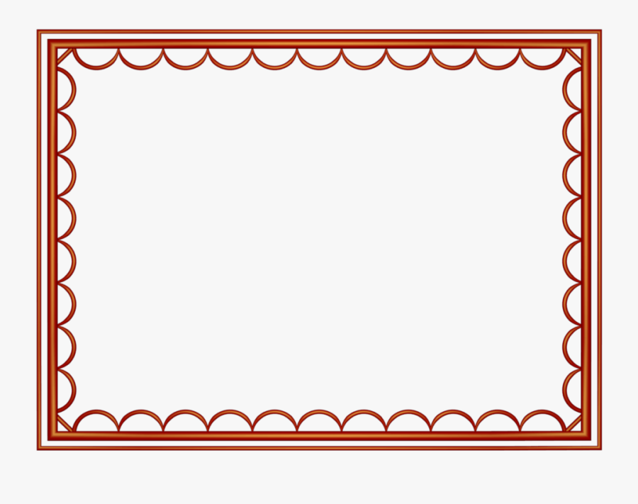 Border Clipart For Powerpoint - Border Design Color Red, Transparent Clipart