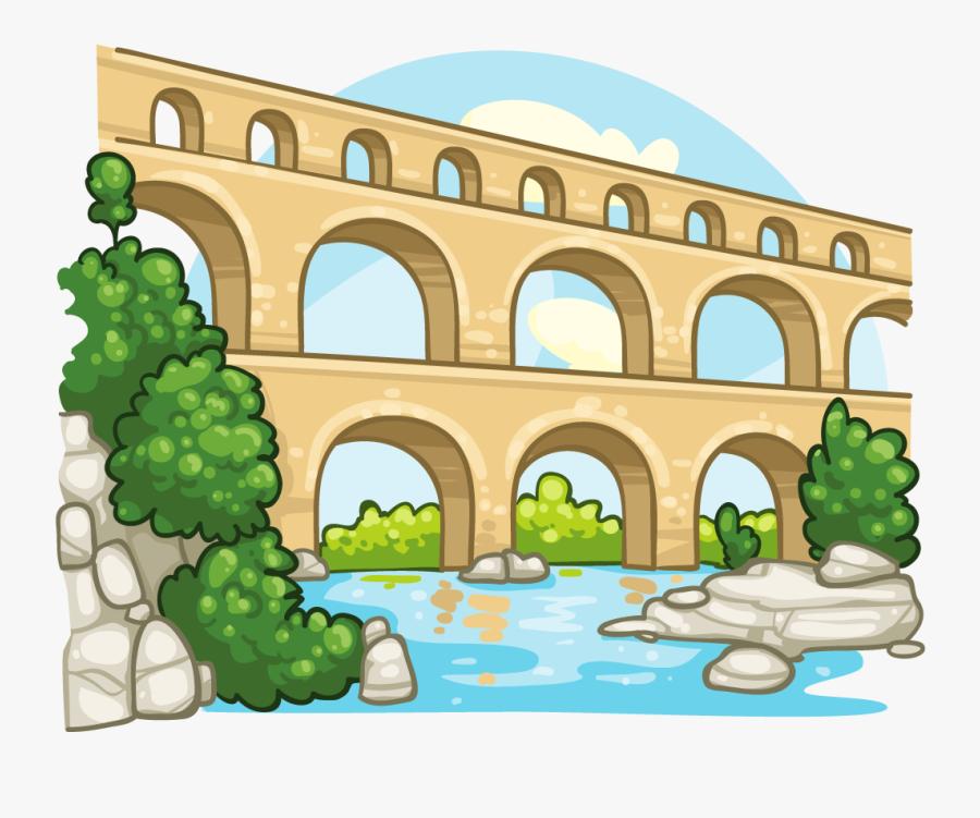 Ancient Rome Aqueducts Clipart, Transparent Clipart