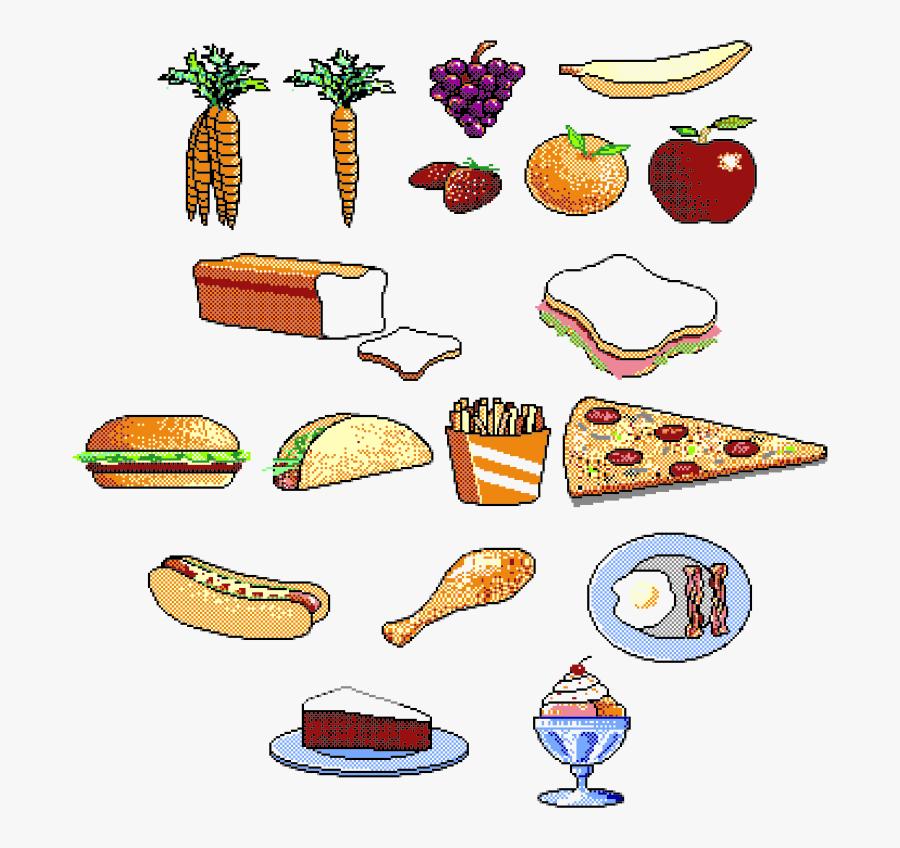 1980s Clipart Gambar Makanan Animasi Free Transparent Clipart