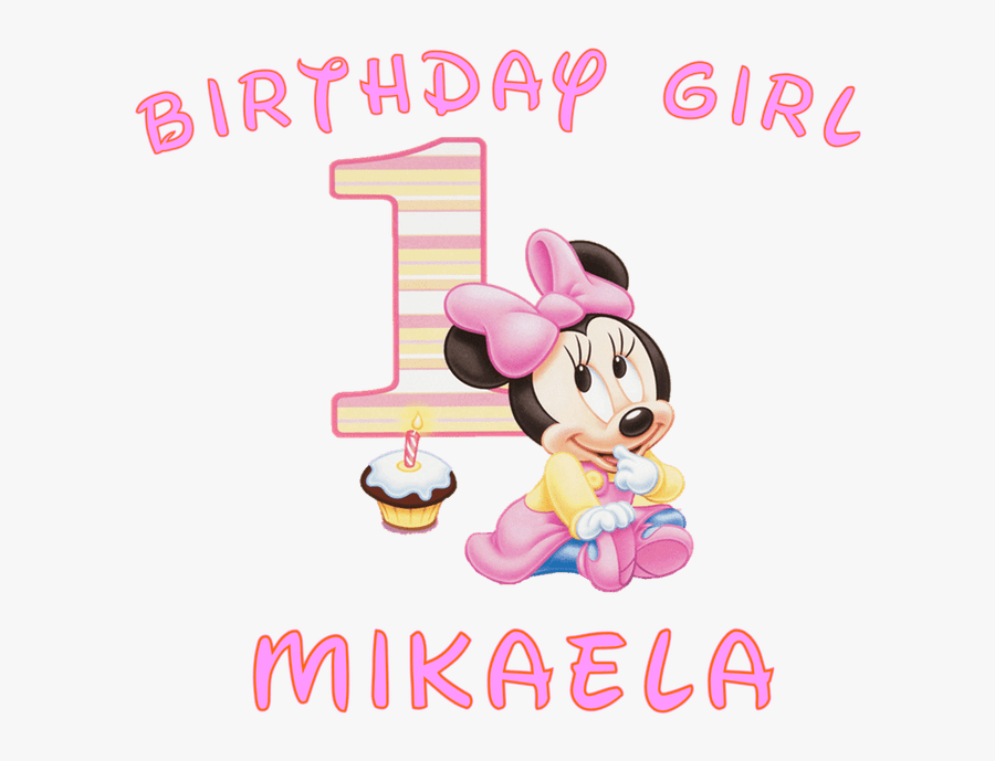 Baby Girl First Birthday Clipart ✓ All About Clipart - Baby Minnie Mouse 1st Birthday, Transparent Clipart