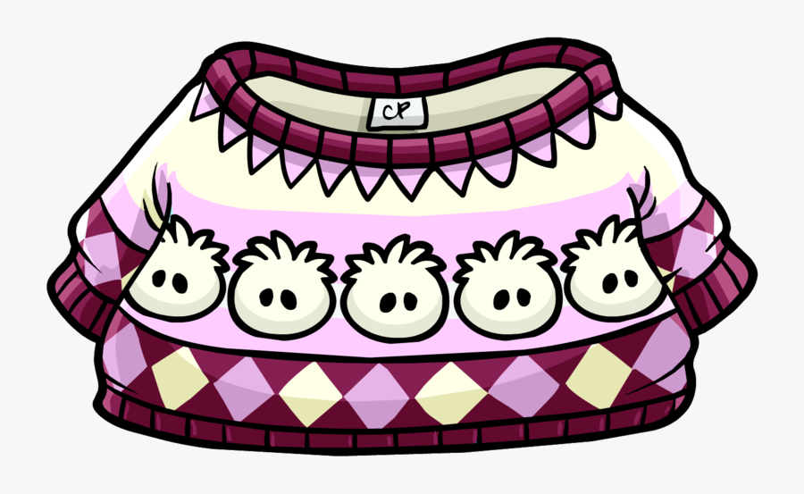 White Puffle Pullover - Puffle Pullover Club Penguin, Transparent Clipart