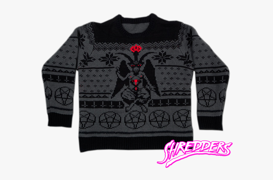 Clip Art Nordic Christmas Sweaters - Baphomet Ugly Christmas Sweater, Transparent Clipart