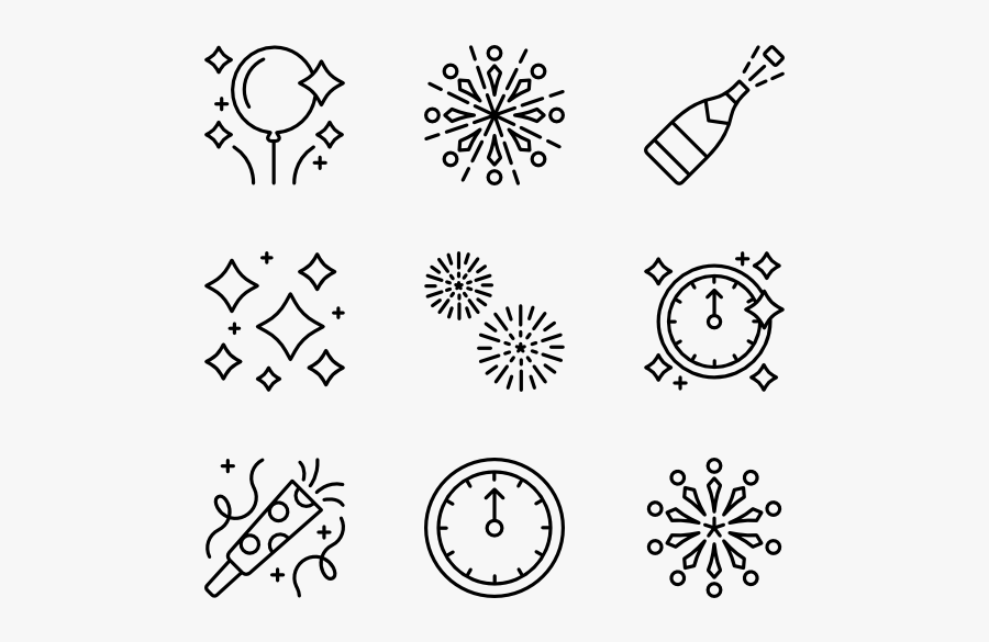 "New Year""s Eve - New Years Eve Icons, Transparent Clipart"
