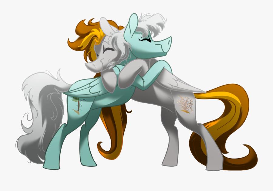 Artist Longmuzzlepony Best Friends Couple Hug - Two My Litle Ponies Huging, Transparent Clipart