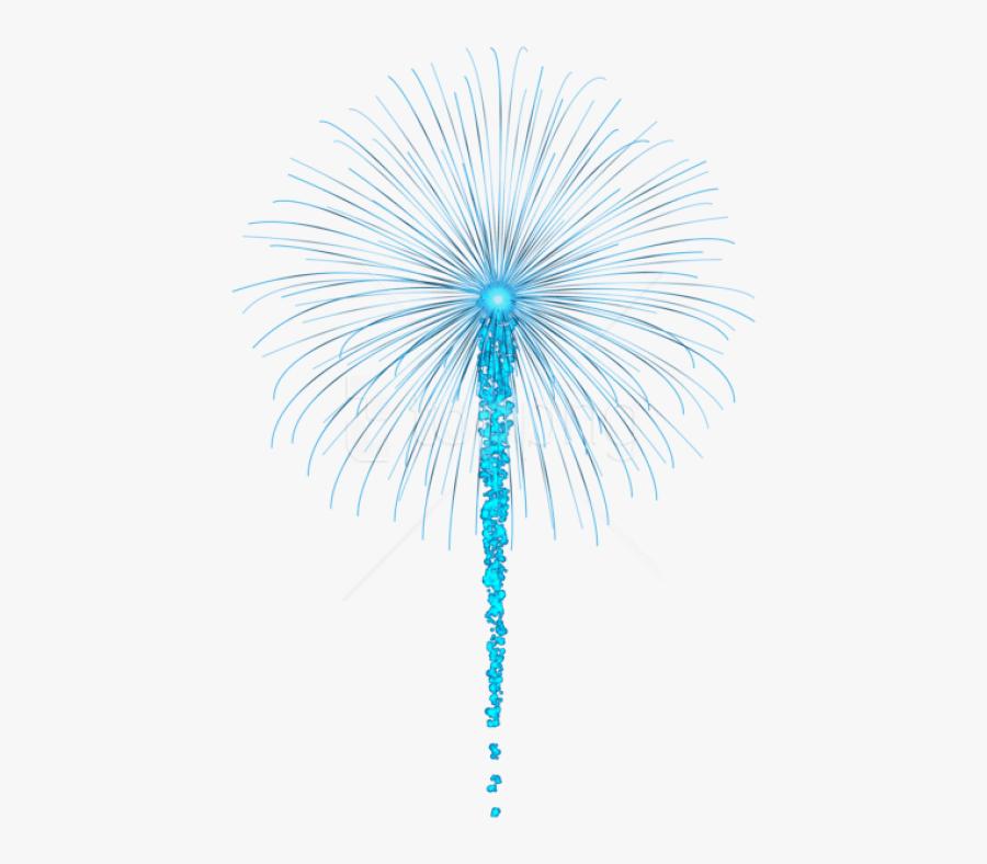 Transparent Firework Png - Transparent Background Blue Fireworks, Transparent Clipart