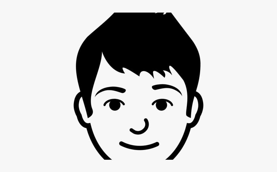Boy Face Clipart Black And White, Transparent Clipart