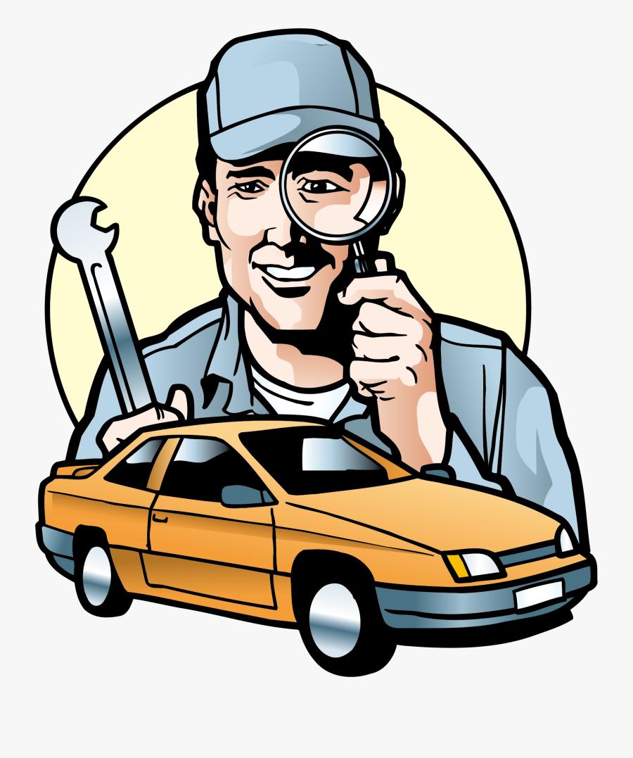 Car Vector Motors Corporation Automobile Repair Shop - Car Repair Man Vector, Transparent Clipart