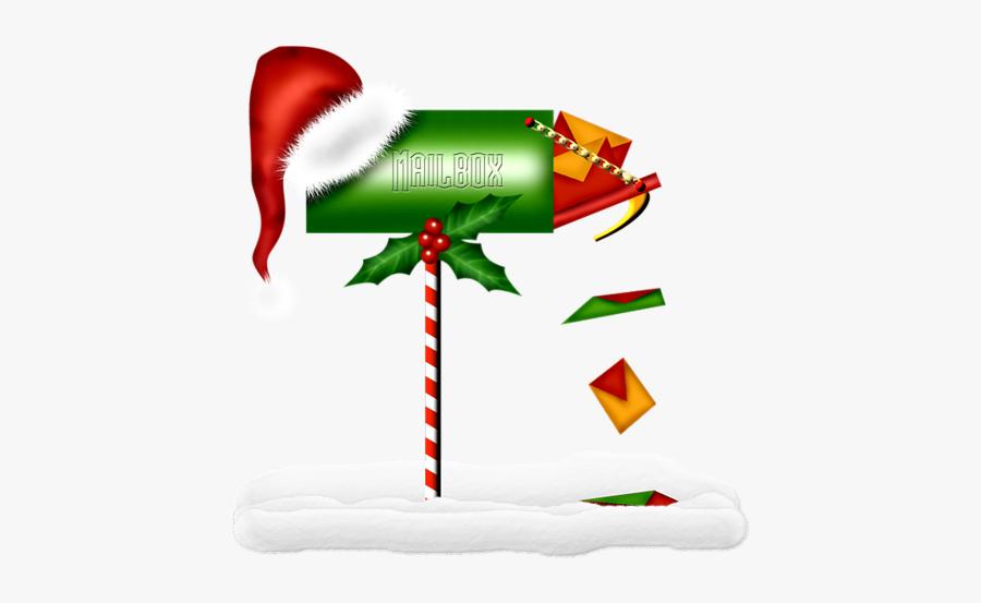 #christmas #mailbox #snow #presents #santahat #decoration, Transparent Clipart