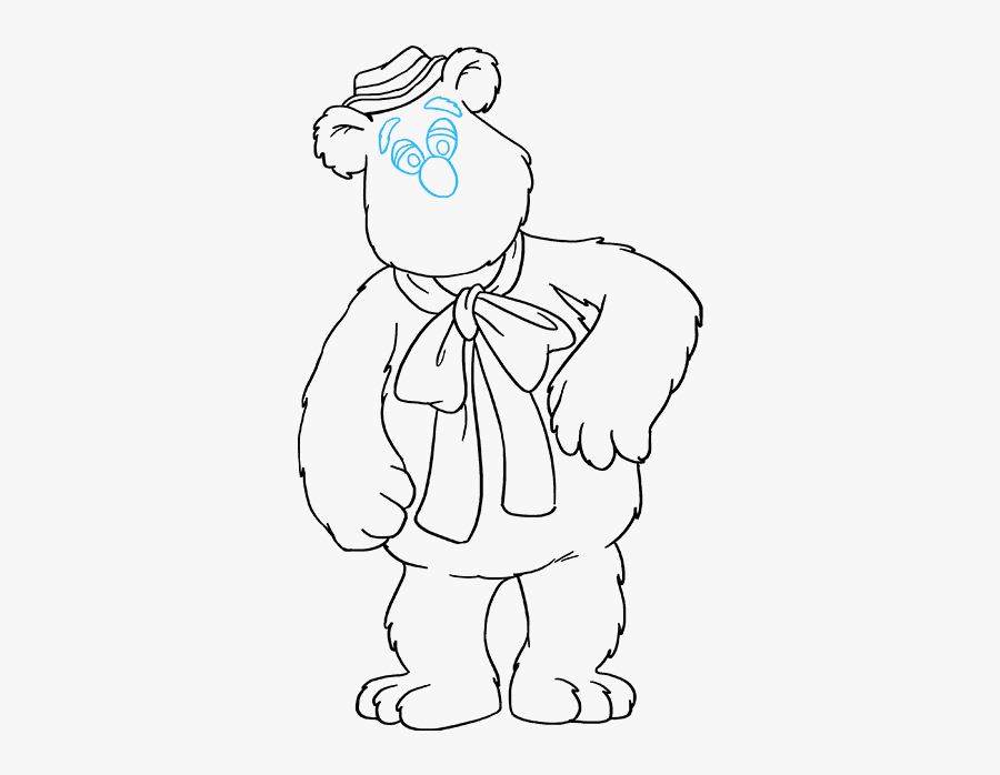 How To Draw Fozzie Bear From The Muppet Show - Black And White Images Of Kermit The Frog And Fozzie, Transparent Clipart