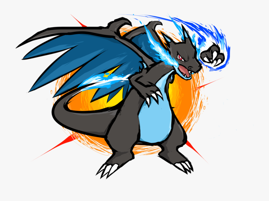 Transparent Charizard Clipart - Pokemon Mega Charizard X Mega Punch, Transparent Clipart