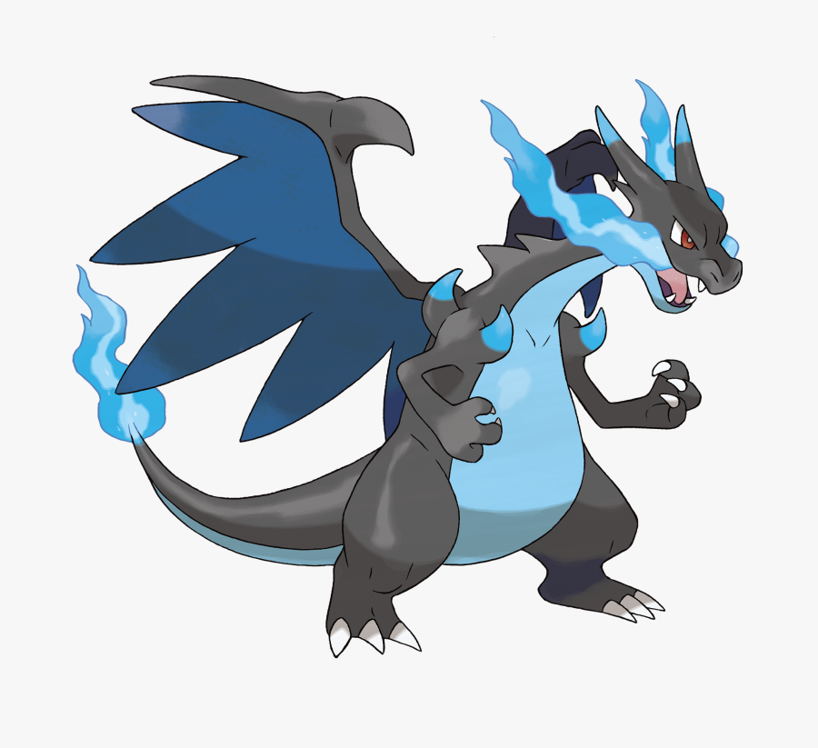 Transparent Mega Charizard X Png - Draw Mega Charizard X, Transparent Clipart