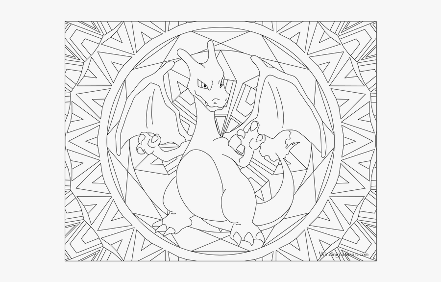 Adult Page Charizard Color - Articuno Pokemon Coloring Page, Transparent Clipart