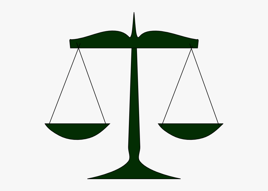 Scales Of Justice Green Clip Art At Clker - Green Scales Of Justice, Transparent Clipart