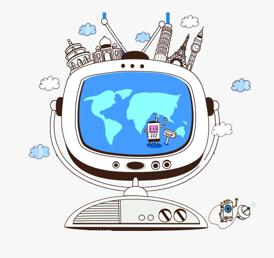 Cartoon Future Illustration Life - Science And Technology Cartoon, Transparent Clipart