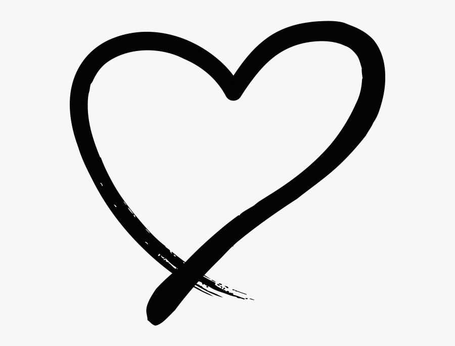 Transparent Hands Holding Heart Clipart - Hand Drawn Heart Symbol Png, Transparent Clipart