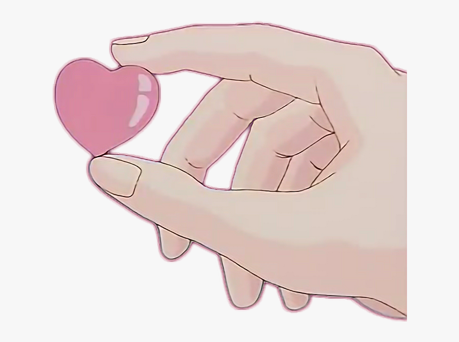 #tumblr #arm #hand #heart #art #anime - Aesthetic Picture No Background, Transparent Clipart