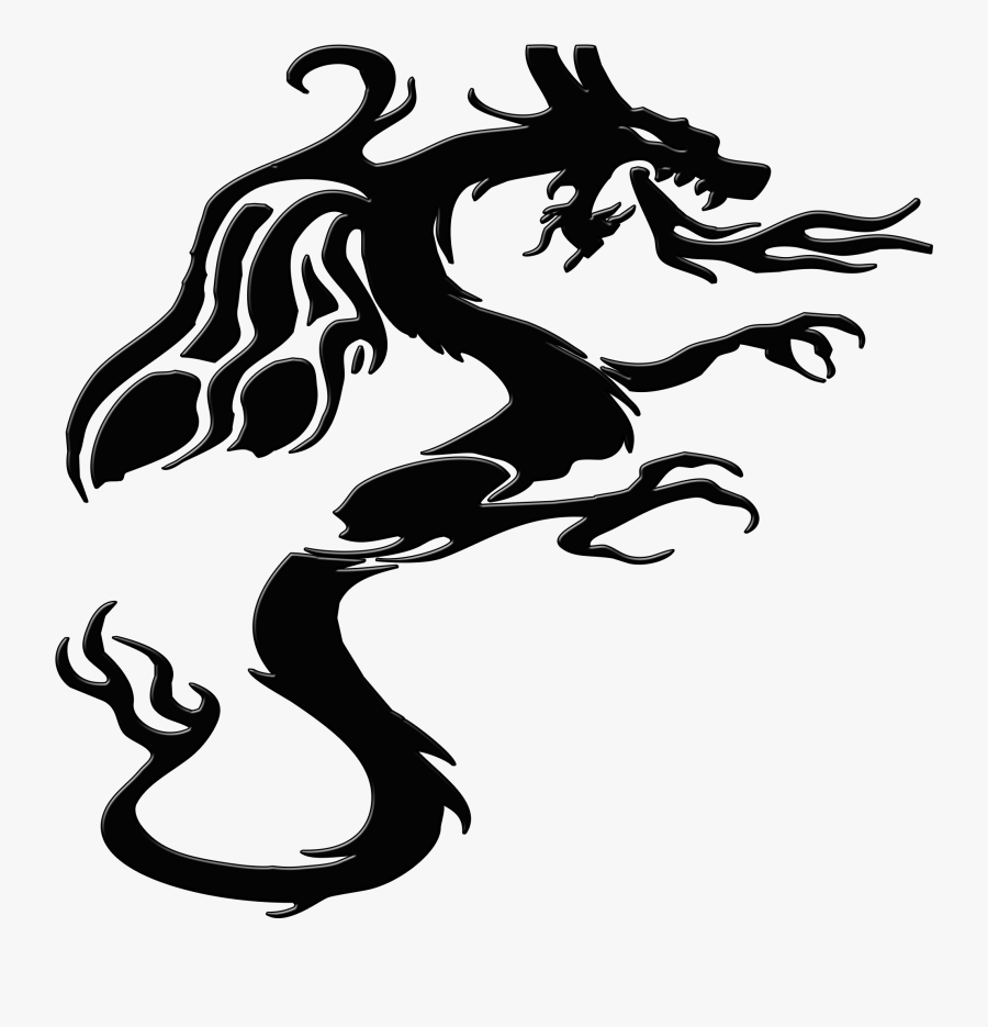Transparent Mythical Creatures Png - Png Black And White Creature, Transparent Clipart