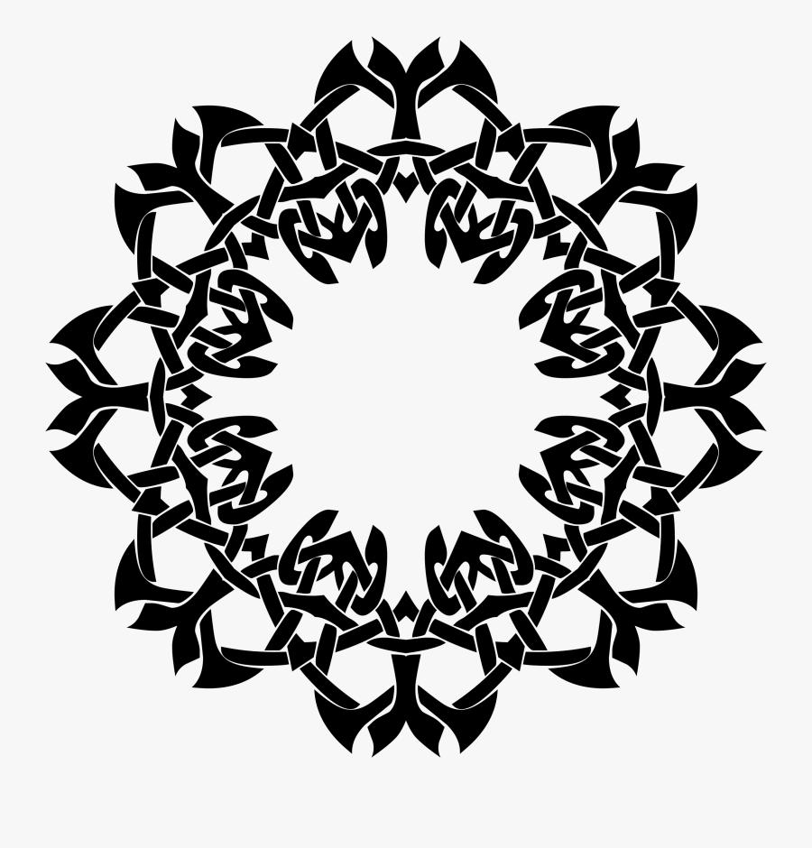 Frame Big Image Png - Design Bunga In Circle, Transparent Clipart