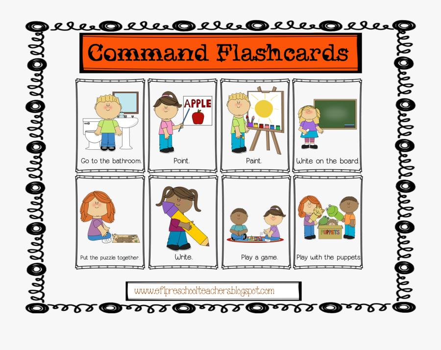 Sit Clipart Classroom Command - Commands In The Classroom, Transparent Clipart