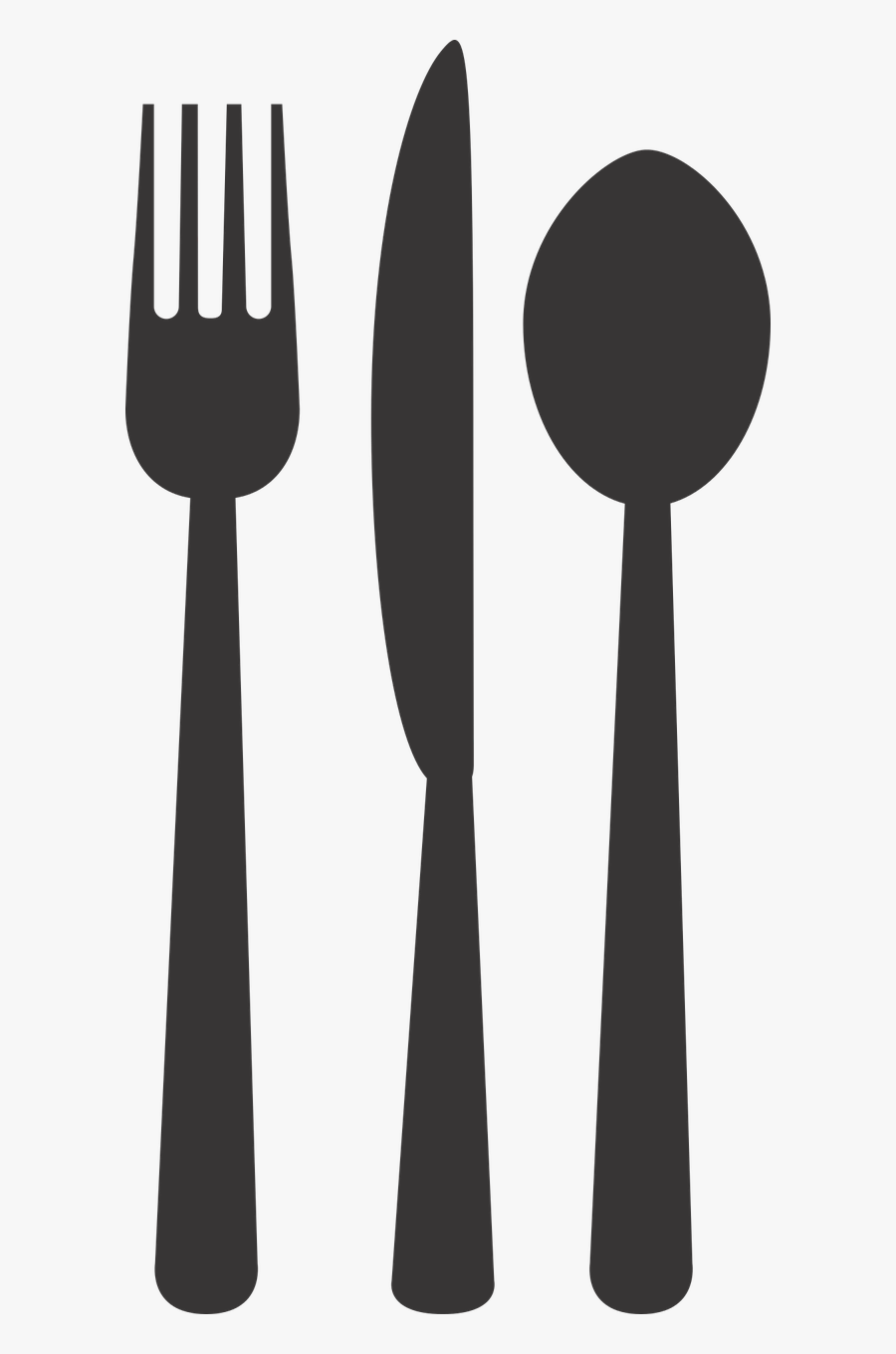 Silverware Plate Fork Free Picture - Fork And Spoons Transparent, Transparent Clipart
