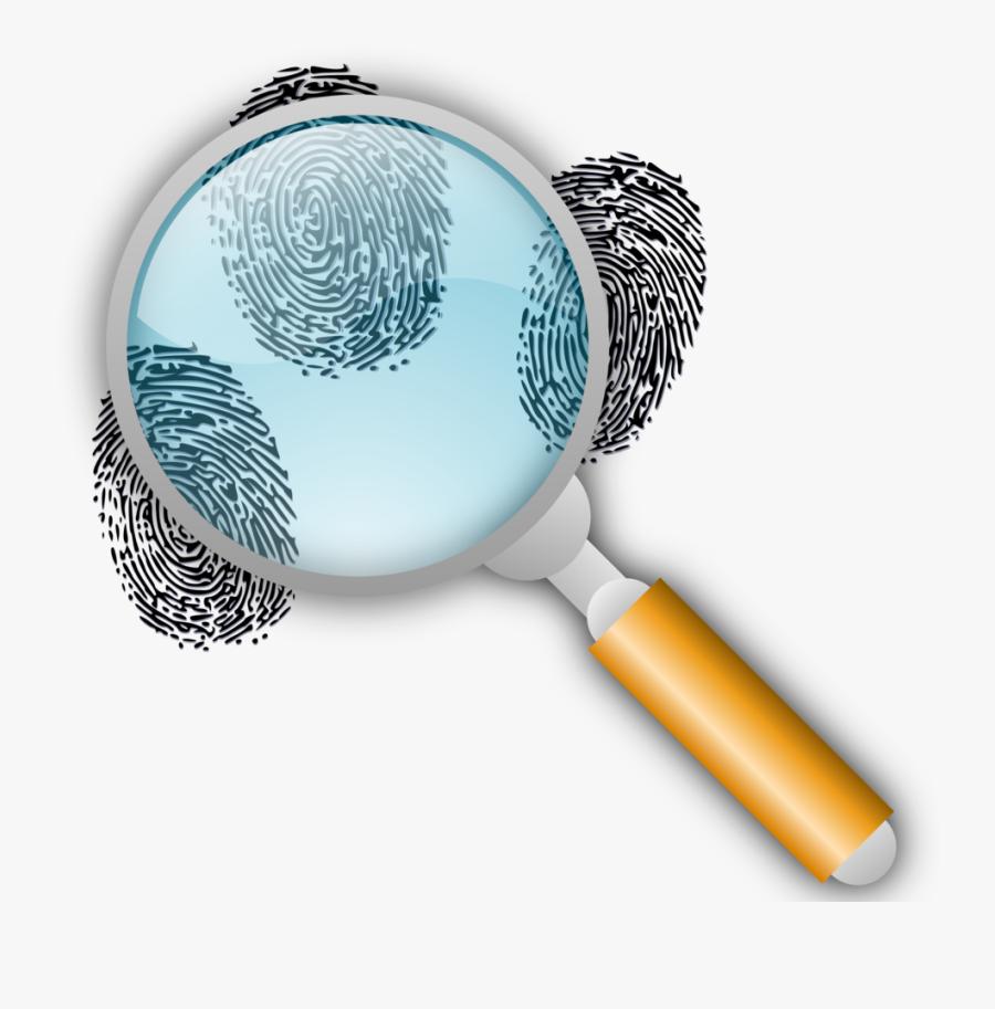 Magnifying Glass With Fingerprints, Transparent Clipart