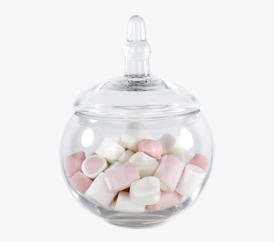 10 Inch Tall Clear Apothecary Jar Candy Buffet Container - Marshmallow, Transparent Clipart