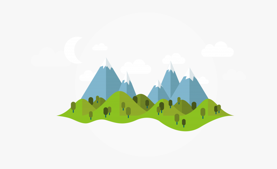 Transparent Mountain Cartoon Png - Illustration Mountain Vector Png, Transparent Clipart