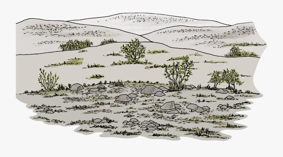 Natural Drawing Mountain - Sketch, Transparent Clipart