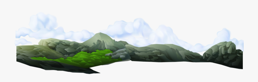 Transparent Mountain Range Png - Mountain Clouds Background Png, Transparent Clipart
