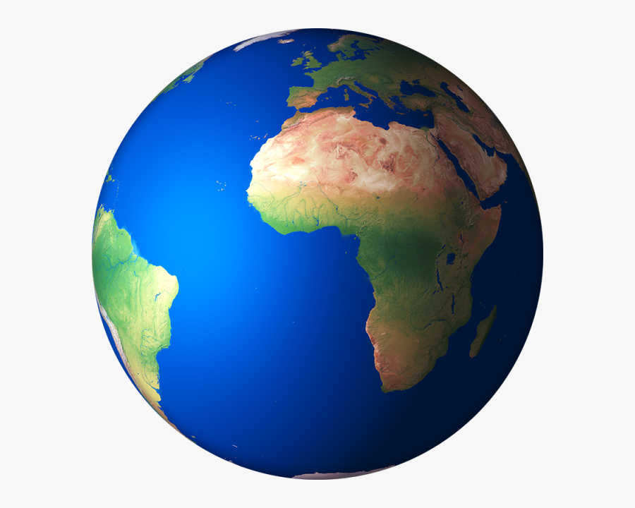 Earth Clipart Transparent Background - 3d Globe Earth Africa, Transparent Clipart