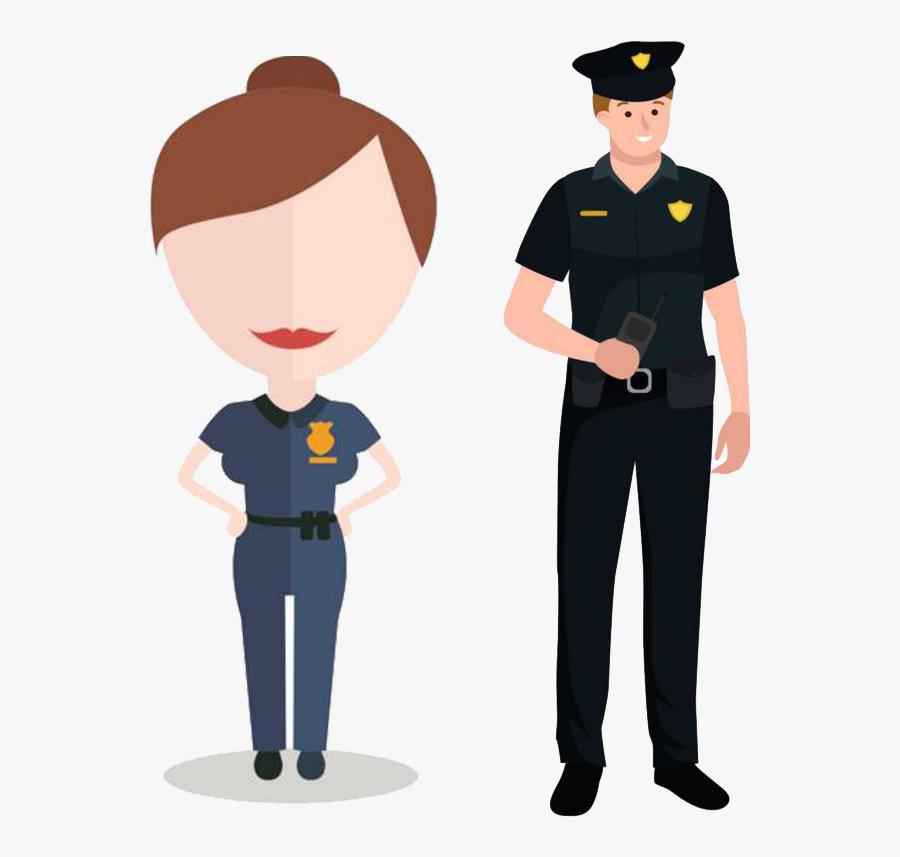 Clip Art Security Guard Cartoon - Police Officer Cartoon Png, Transparent Clipart