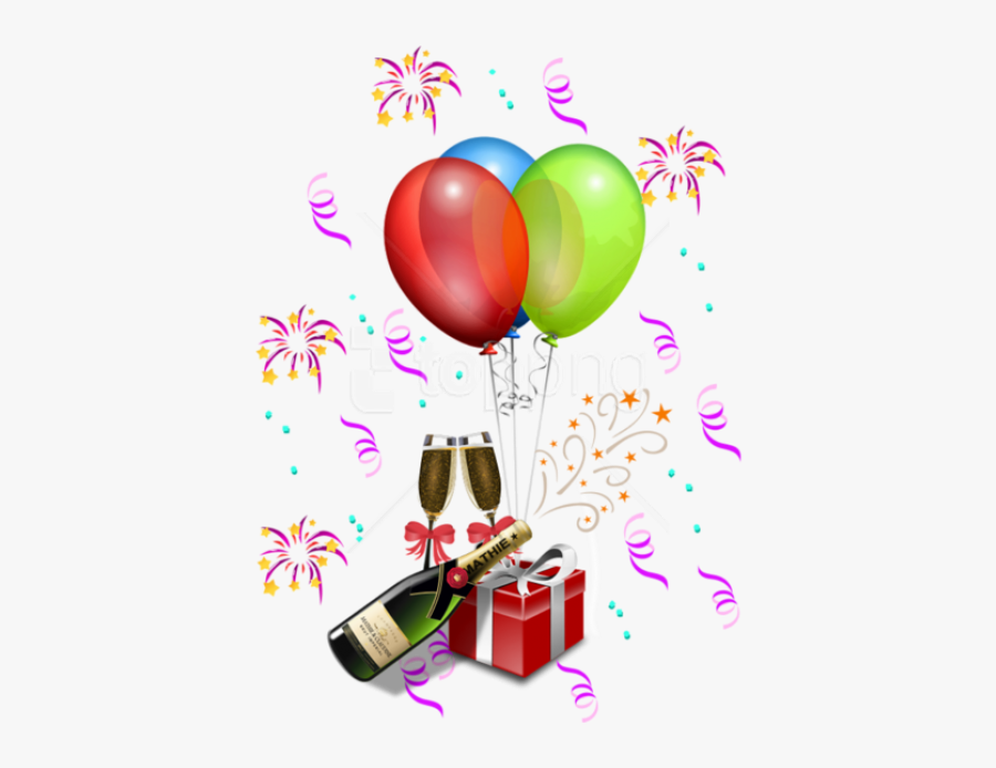 Party Streamers Png - Birthday Decorations Png, Transparent Clipart