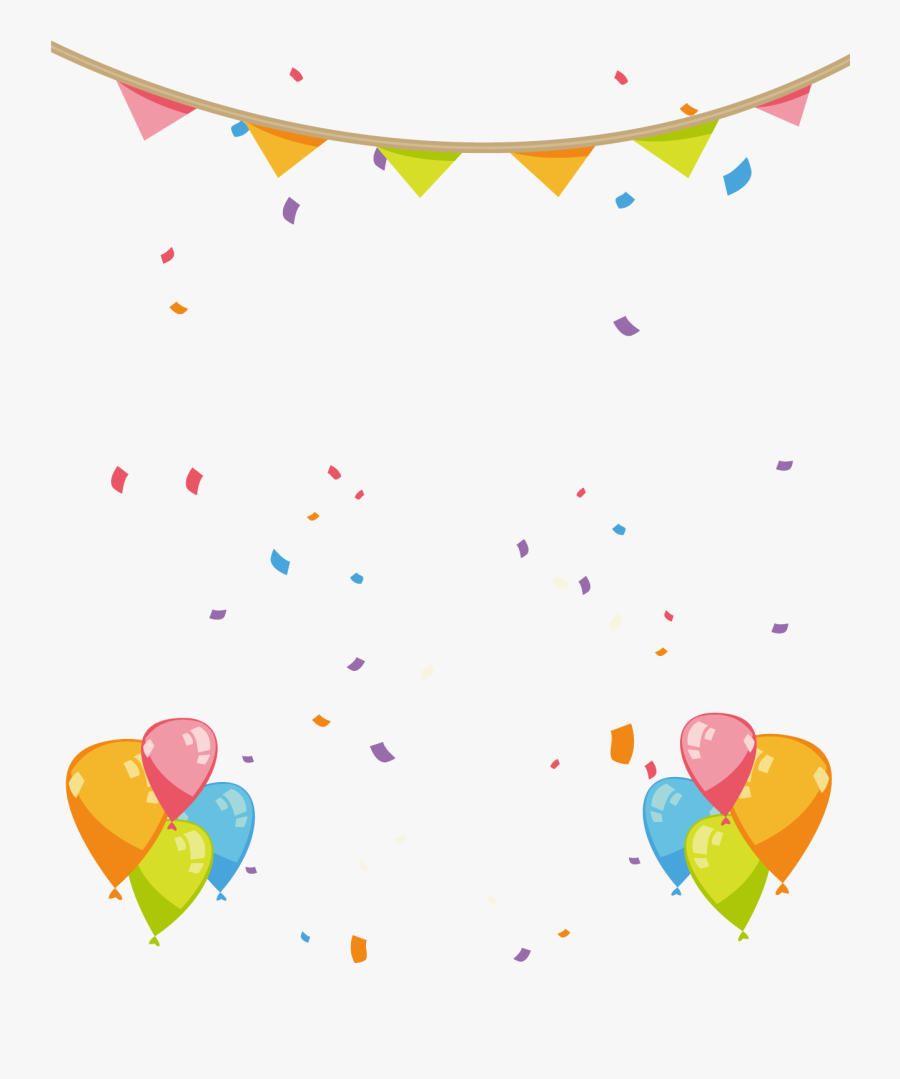 Hand Painted Birthday Party Decorations 1291*1500 - Birthday Party Decorations Png, Transparent Clipart