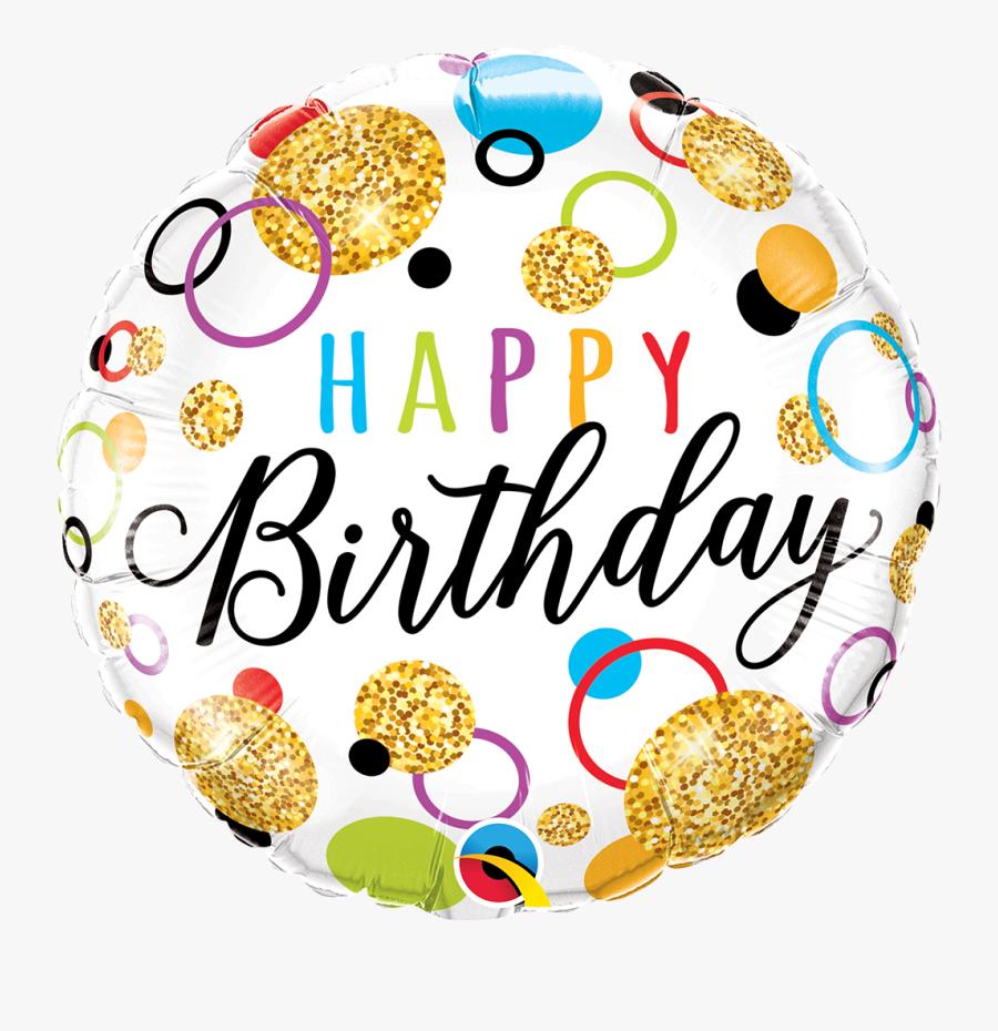 Happy Birthday Balloons Glitter, Transparent Clipart