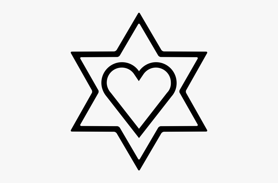 """""""  Class=""""lazyload Lazyload Mirage Cloudzoom Featured - Star Of David And Heart Coloring, Transparent Clipart"""