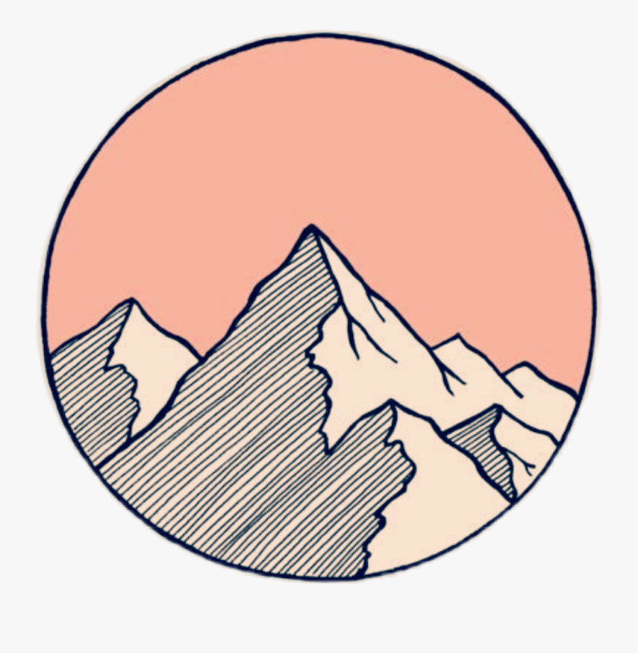 #tumblr #tattooday #mountain #outline #sky - Aesthetic Mountain Stickers, Transparent Clipart