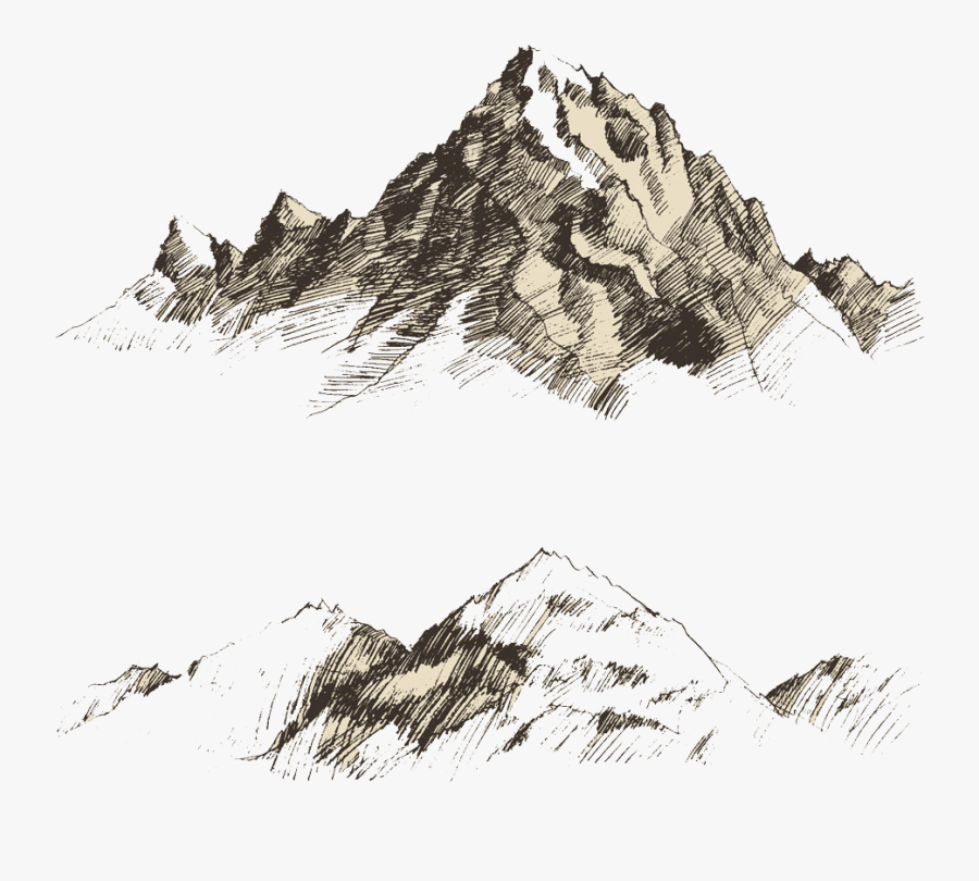 Mountain Vector Png - Mountain Sketch Vector Png, Transparent Clipart