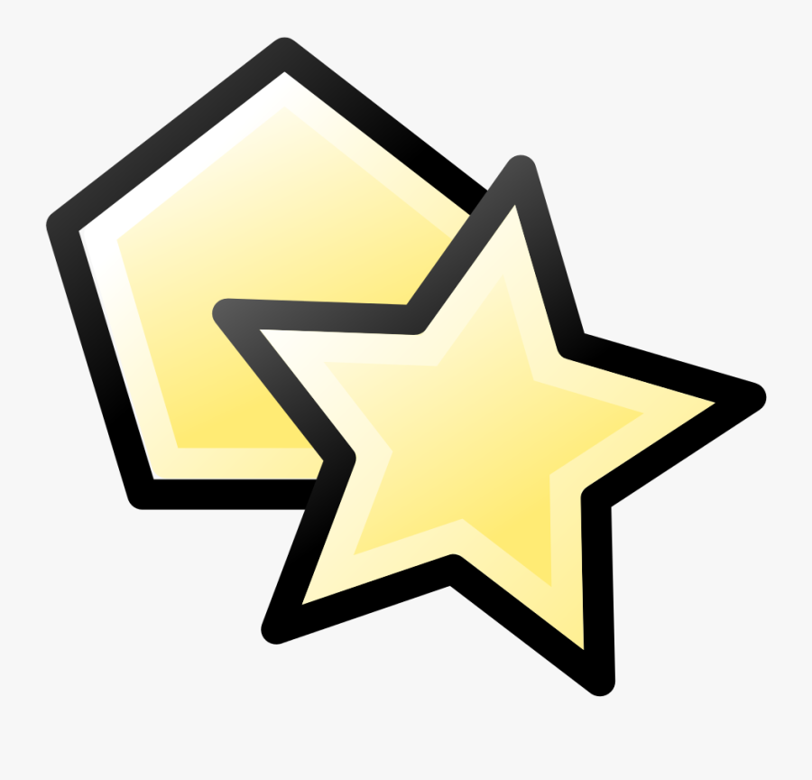 Inkscape Icons Draw Polygon Star - Inkscape 六 角形, Transparent Clipart