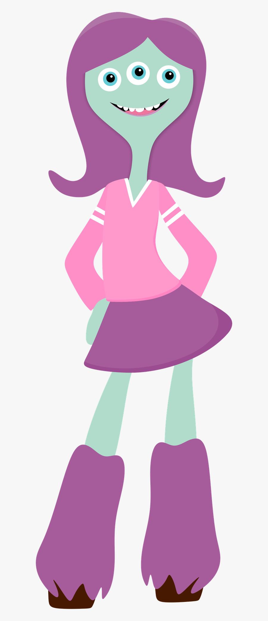 Transparent Monsters Inc Clipart - Monsters University Personajes Pink Animado, Transparent Clipart