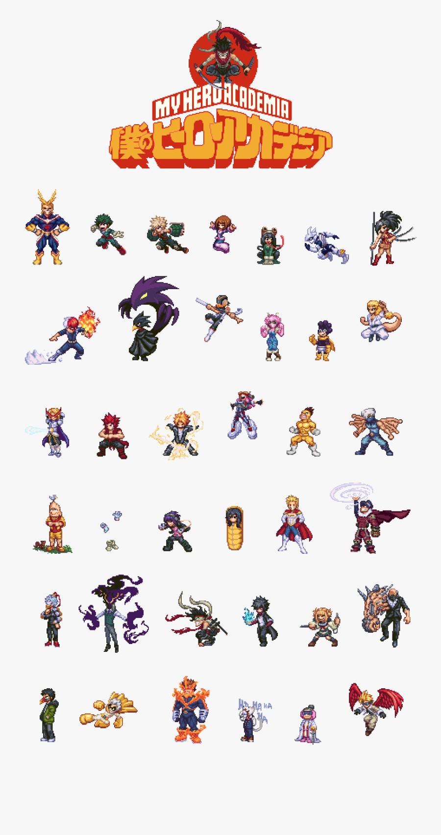 Transparent My Hero Academia Png - My Hero Academia Pixel Art, Transparent Clipart
