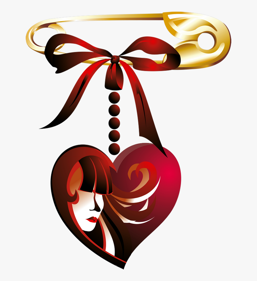 Safety Pin With Peart Decor Png Clipart Picture - Love Flower, Transparent Clipart