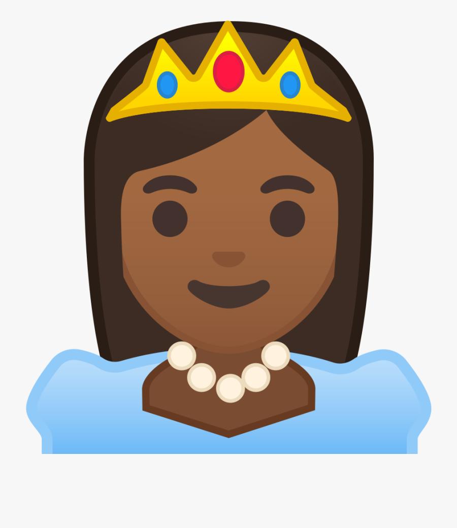 Skin Clipart Different Skin Color - Princess Dark Skin Icon, Transparent Clipart