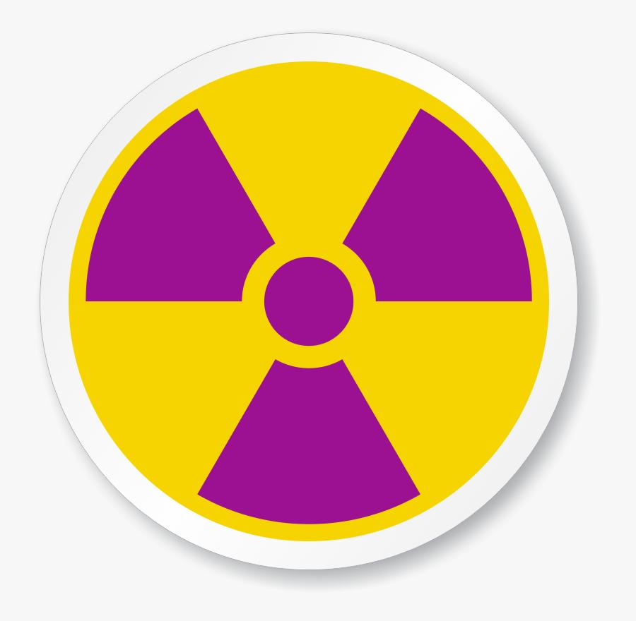 Radioactive Decay Nuclear Power Radiation Hazard Symbol - Radiation Symbol, Transparent Clipart