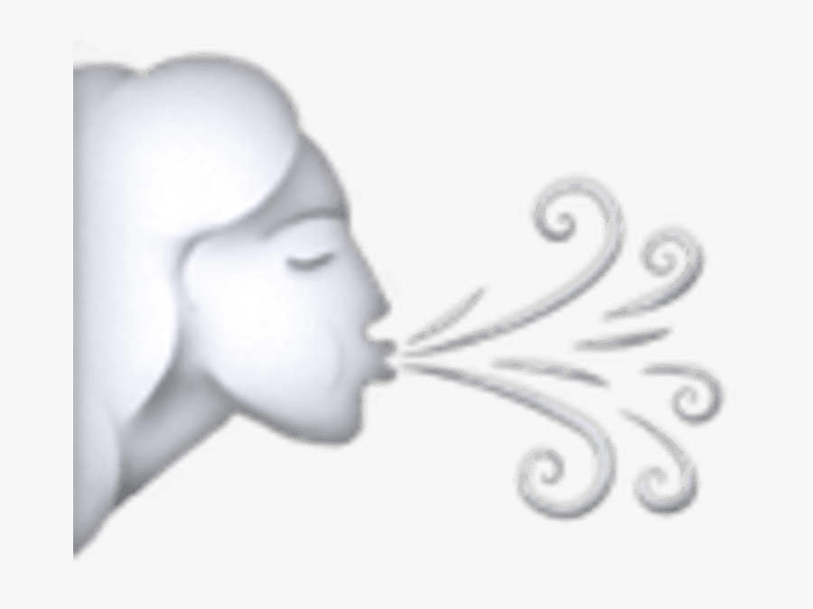 Transparent Champagne Emoji Png - Wind Blowing Emoji, Transparent Clipart