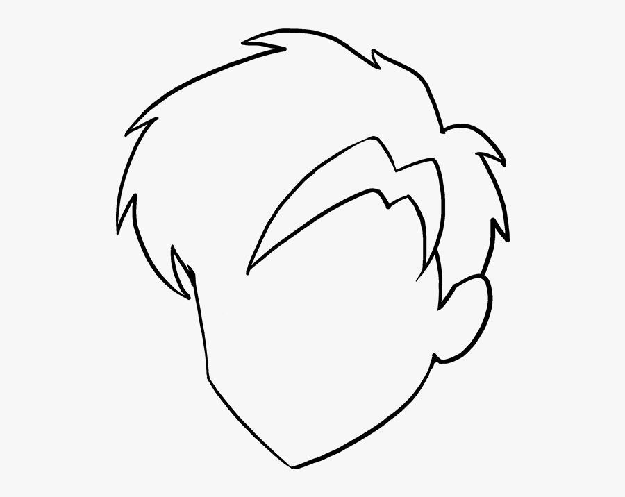 How To Draw Manga Hair - Drawing, Transparent Clipart